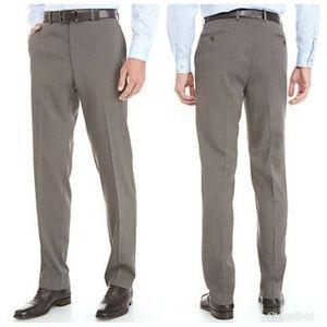 NWT Michael Kors Brown Stretch Flat Front Pants Me